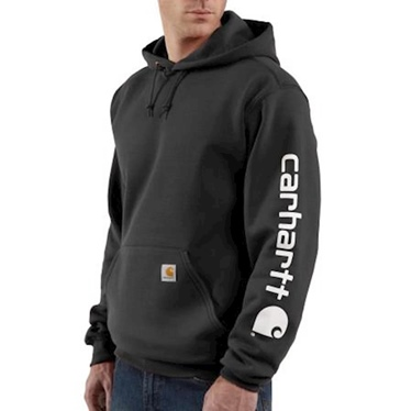 Carhartt Men's Midweight Sleeve Logo Hoodie Big and Tall