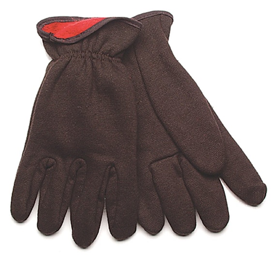 Lined Brown Jersey Glove