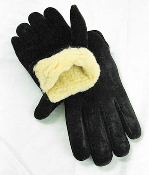 Geier Men's Pile Lined Deerskin Glove Black