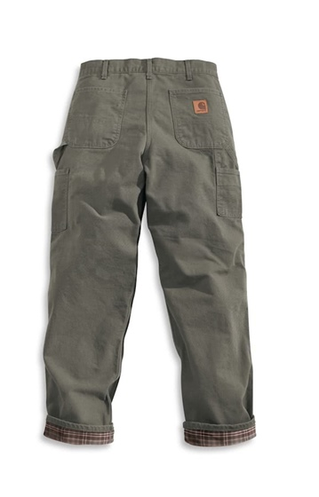 Carhartt Flannel Lined Pant-Moss