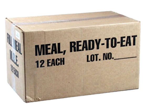 Major Surplus MRE - Meals Ready to Eat - Case of 12