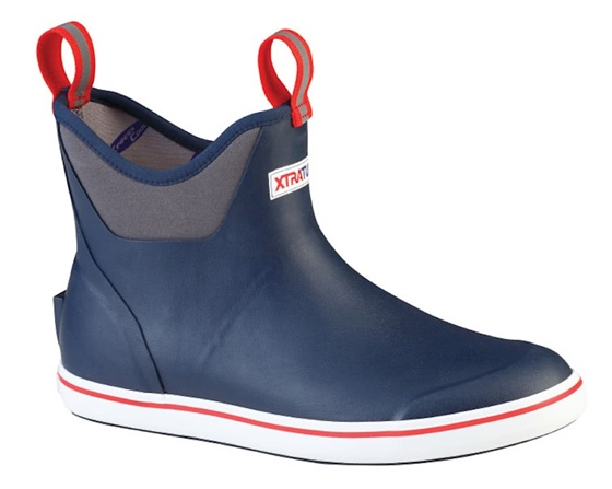 "XtraTuf Men's 6"" Deck Boot- Navy/Red"
