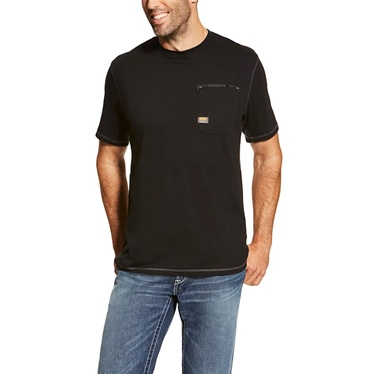 Ariat Short Sleeve Rebar Crew T-Shirt Black