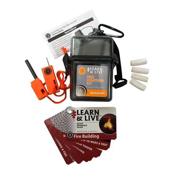 Learn & Live Fire Starting Kit