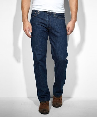 Levi's Men's 501 Original Fit Prewashed Rinsed Indigo Jeans