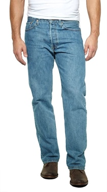 Levi's Men's 501 Original Fit Prewashed Stonewash Jeans
