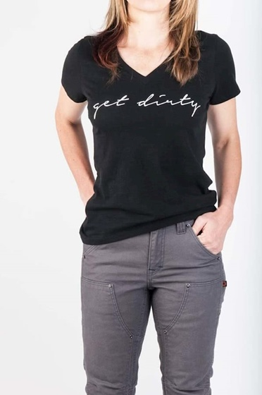 Dovetail Women's Get Dirty Graphic V-Tee