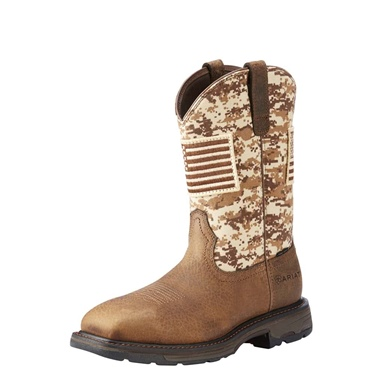 Ariat Men's Steel Toe Workhog Patriot- Camo