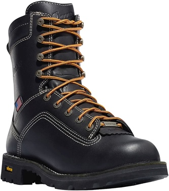 "Danner Men's Quarry USA 8"" Alloy Toe Boot Black"