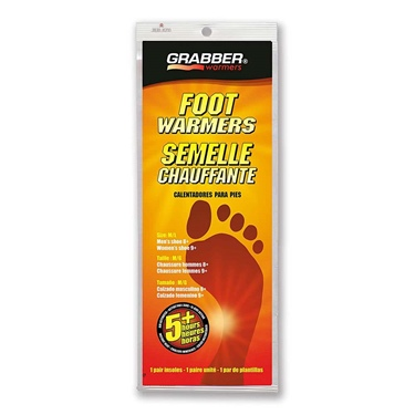 Grabber 2 Pack Foot Warmer - Medium/Large