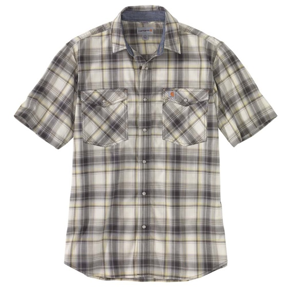 Carhartt Men's Rugged Flex S/S Plaid Shirt