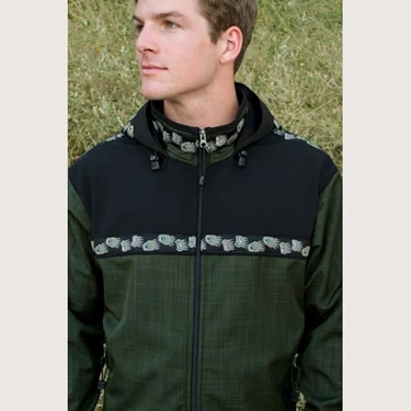 Copper River Men's Kodiak Jacket-Fjord/Blk/Bear Tracks
