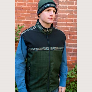 Copper River Men's Kodiak Vest-Fjord/Blk/Totem