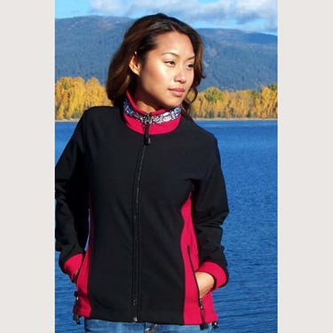 Copper River Women's Arctic Jacket-Blk/Ruby/Totem