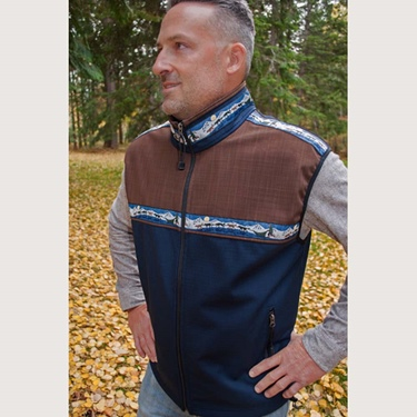 Copper River Men's Kodiak Vest-Navy/Ridge/Race