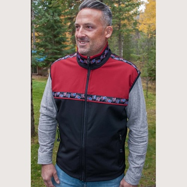 Copper River Men's Kodiak Vest-Blk/Tamale/Bear Tracks