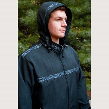 Copper River Men's Kodiak Jacket-Raven/Raven/Totem