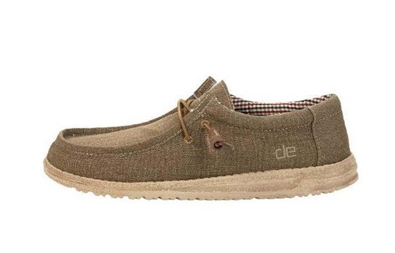 HEYDUDE Men's Wally Canvas Nut