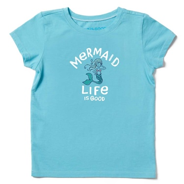 Life is Good Kid's Crusher Tee Mermaid Life