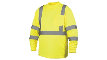 Pyramex Hi-Vis Long Sleeve T-shirt w/Black Bottom