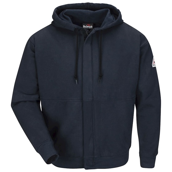 Bulwark Flame Resistant Zip-Front Hooded Sweatshirt 2XL-5XL