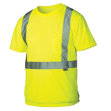 Pyramex Hi-Vis Short Sleeve T-Shirt w/Black Bottom