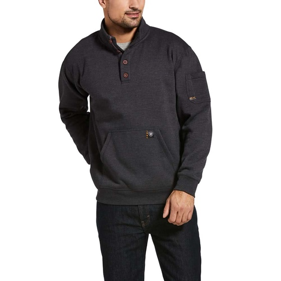 Ariat Rebar Graphic HoodieRebar Fleece Sweater Charcoal
