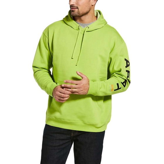 Ariat Rebar Graphic Hoodie Lime/Black