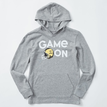Life is Good Kid's L/S Hooded Crusher Game On