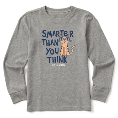 Life is Good Kid's L/S Crusher Tee Smarter than you Think