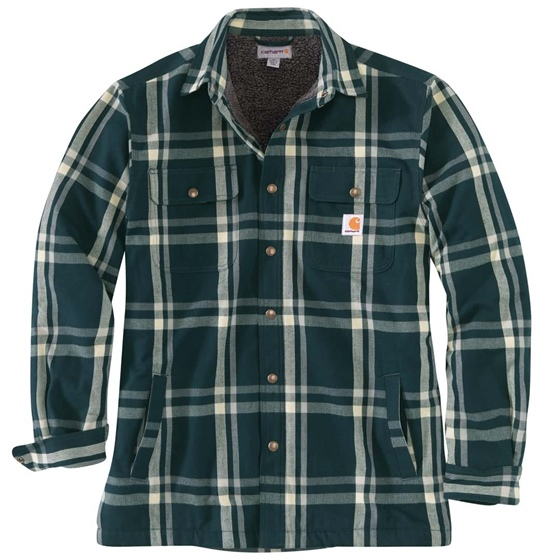 Fleece Lined Flannel Shirt Jacket