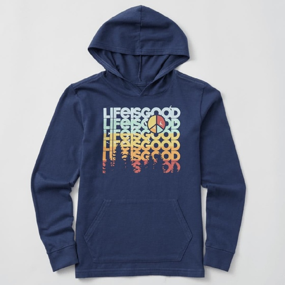 Life is Good Kid's L/S Hooded Crusher Peace