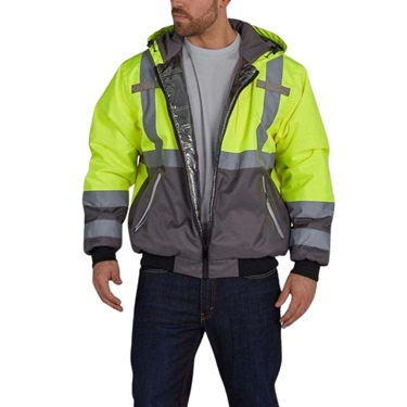 Utility Pro Hi-Vis Warm Up Bomber Jacket