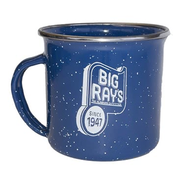 Big Ray's Retro Camp Mug - Blue