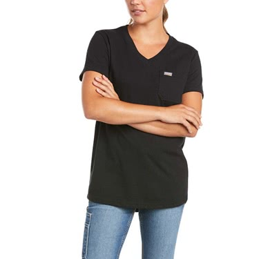 Ariat Women's Rebar Cotton Strong V-Neck Top