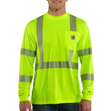 Carhartt Men's Force High-Vis Class 3 Long-Sleeve T-Shirt