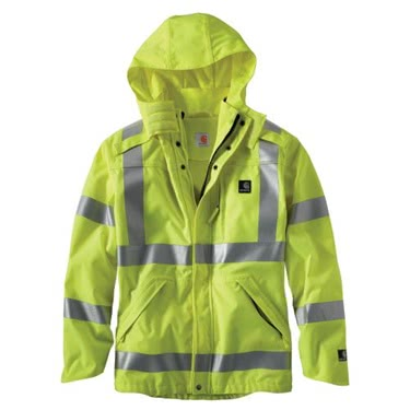 Carhartt Men's High-Vis Class 3 Waterproof Jacket