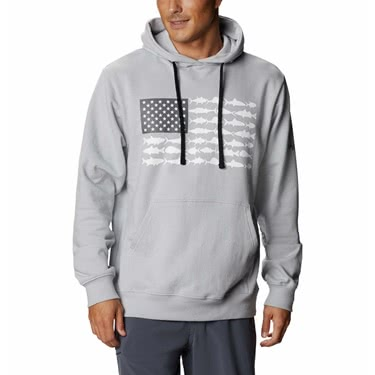 Columbia Men's PFG Fish Flag Hoodie