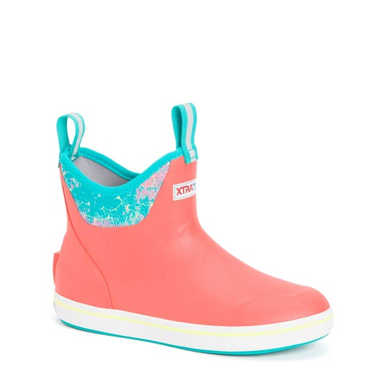 """Xtratuf Women's 6"""" Ankle Deck Coral Coho"""