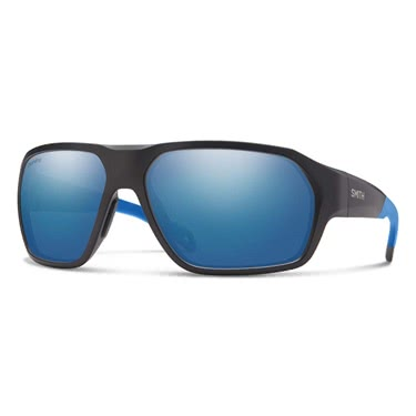 Smith Deckboss Matte Black Blue ChromaPop Polarized Blue M